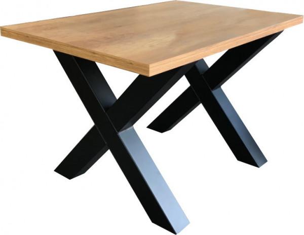 Tischkombination Vintage X-Fuß HPL-Tischplatte