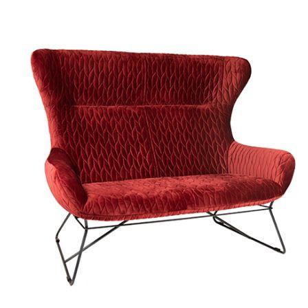 "Lounge Sofa 2er ""Grace"" red"