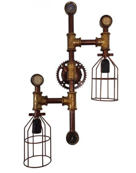 "Tisch-Lampe Leuchte Pipe Steampunk Industrial Industrie Design Retro Vintage Art ""Vintage Light""-Cop"