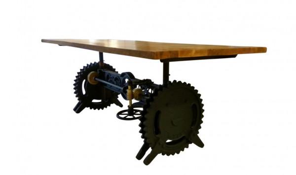 Tisch Esstisch Mango Massiv Holz Industrial Design Crank Table