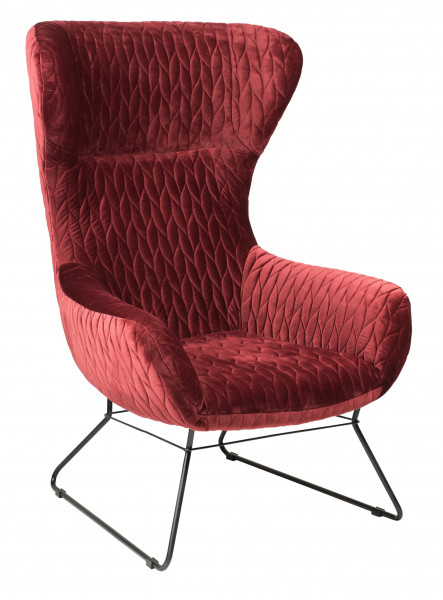 "Lounge Sessel ""Grace"" darkred"