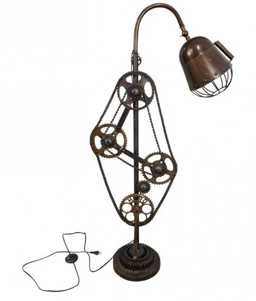 """Tisch-Lampe Leuchte Pipe Steampunk Industrial Industrie Art Retro Vintage Design """"Vintage Bike"""""""