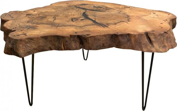 Baumscheibe-Medium Lounge Tisch Massivholz Walnuss Unikat 70-80cm