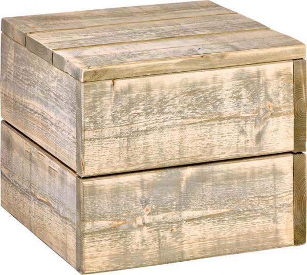 "Bauholz Hocker ""Cube"""