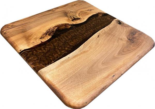 "Tischplatte Epoxidharz ""CNC-Metallic braun"" Unikate Walnuss Massivholz"