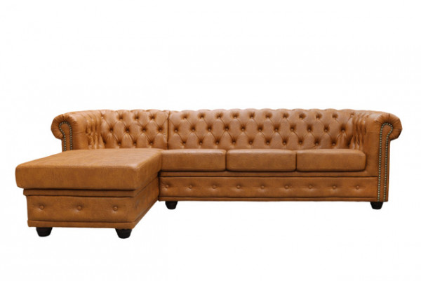 "Lounge Chestefield Ecksofa ""Chester-Recamiere"""