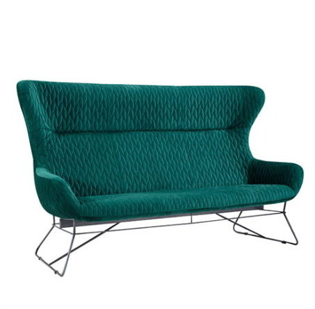 "Lounge Sofa 3er ""Grace"" green"