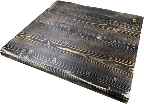 """Tischplatte """"Ladin"""" Fichte Echtholz schwarz mit Baumkante"""