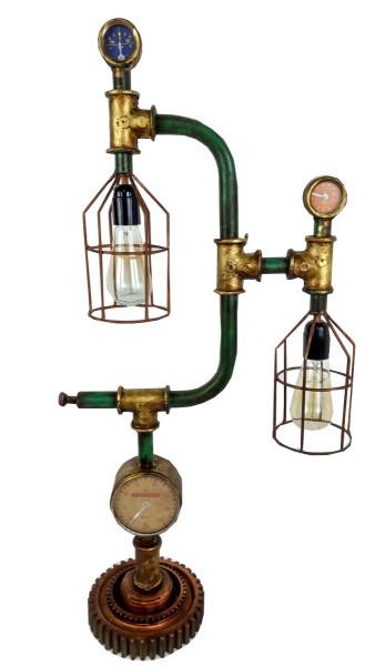 """Tisch-Lampe Leuchte Pipe Steampunk Industrial Industrie Art Retro Vintage Design """"Vintage Factory"""""""