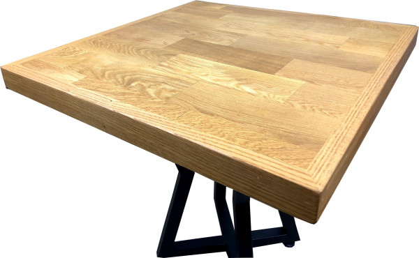 Tischplatte Massivholz - Eiche 60 mm (aufgedoppelt)