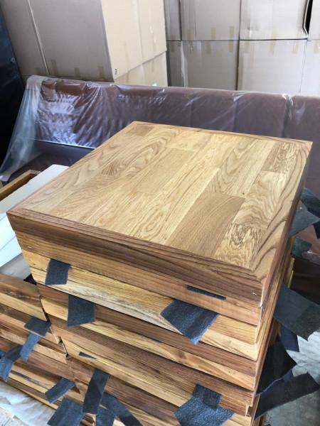 Sonderposten Tischplatte Eiche 75x75cm Teilmassiv aufgedoppelt
