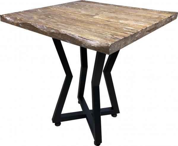 Tischkombination Ladin Fichte Echtholz mit Baumkante braun weiß 72H Star