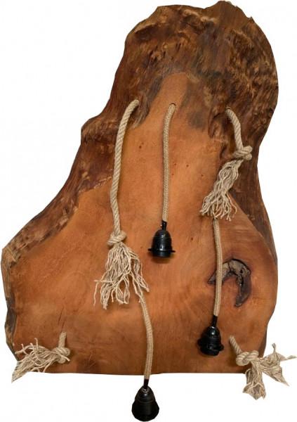 "Hängelampe Natural Vintage Unikat Esche Massivholz ""Baumstamm-small"""