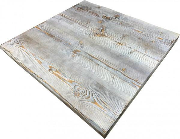 """Tischplatte """"Ladin"""" Fichte Echtholz grau weiß mit Baumkante"""