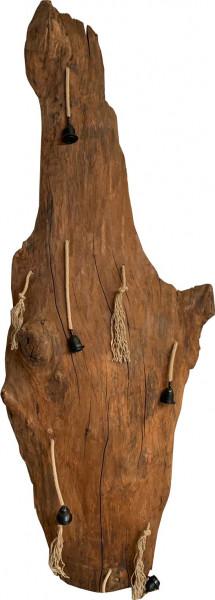 """Hängelampe Natural Vintage Unikat Esche Massivholz """"Baumstamm-M"""""""