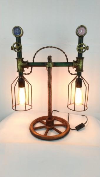 """Tisch-Lampe Leuchte Pipe Steampunk Industrial Industrie Art Retro Vintage Design """"Vintage Retro"""""""